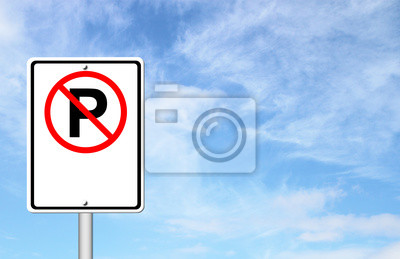 no parking sign blank for text