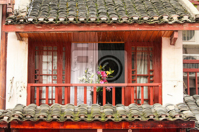 Normal chinese home balcony