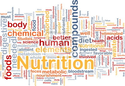 Nutrition health background concept