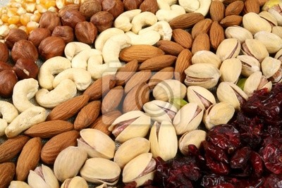 Wall mural Nuts background