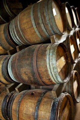 Wall mural Oak barrels