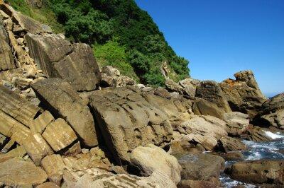Wall mural Ocean water and rocks