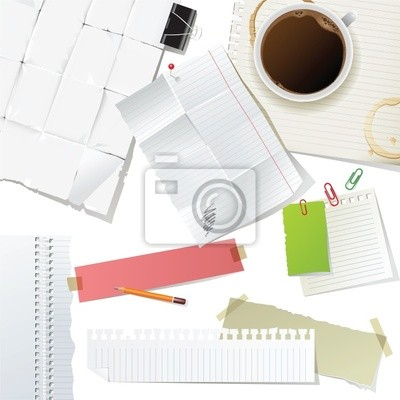 office supplies and paper set