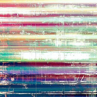 Wall mural Old abstract grunge background, aged retro texture. With different color patterns: yellow (beige); pink; blue; white; green