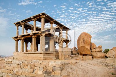Old ancient ruins of hampi in karnataka india