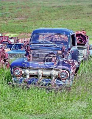 Old cars dump