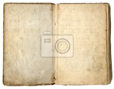 Old empty book