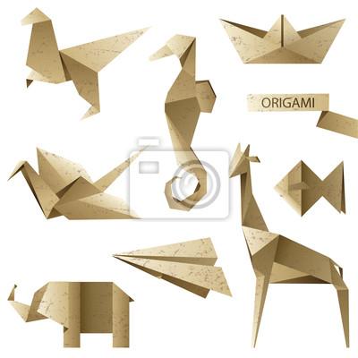 old-fashioned origami set