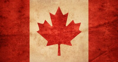Old grunge flag of Canada.