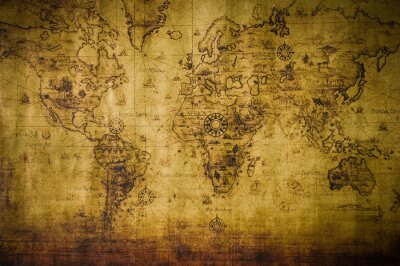 Wall mural old map