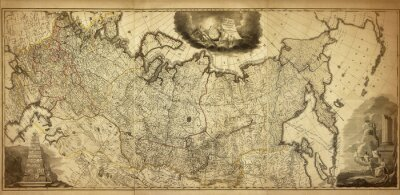 Wall mural Old map of the Russia, printed in 1786