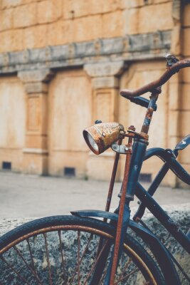 Wall mural Old rusted bicycle