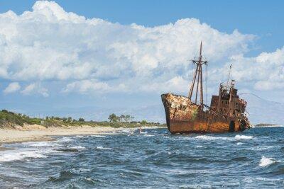 Wall mural Old rustic big ship