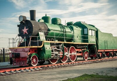 Wall mural old steam locomotives of the 20th century