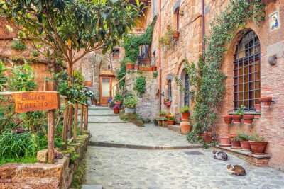 Wall mural Old town Tuscany Italy