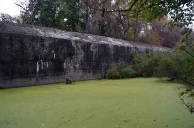 Old tunnel of Stalin. Part of Kiev defense line in WW2 time.Kiev