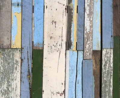 Wall mural Old wood fence