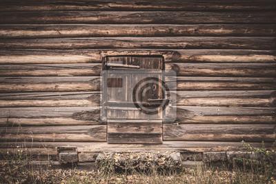Old wooden barn door