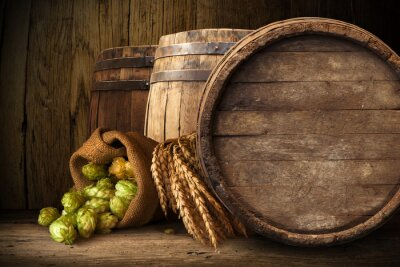 Wall mural old wooden barrel