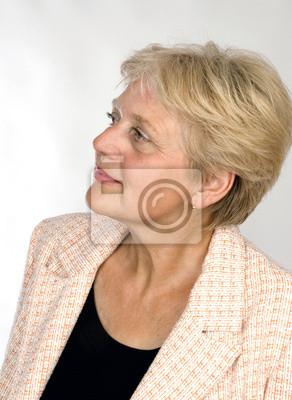older pensioner woman