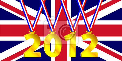 Olympic year with a British flag