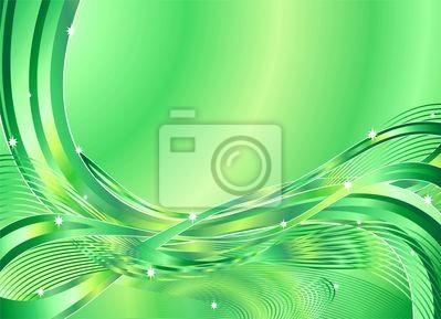 Onda Verde Astratto Sfondo-Green Wave Background-Vector