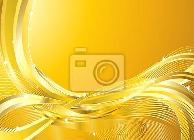 Onde oro Astratto Sfondo-Golden Wave Background-Vector