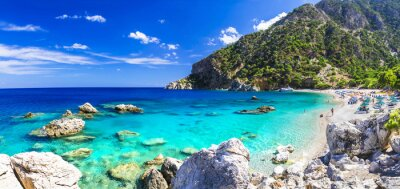 Wall mural one of the most beautiful beaches of Greece - Apella, Karpathos