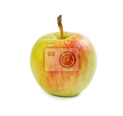 One yellow-red apple