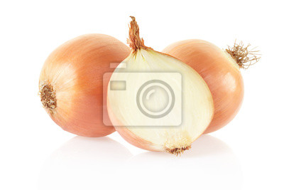 Wall mural Onion on white background, clipping path included