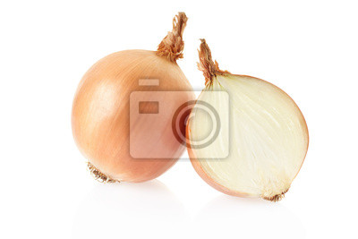 Wall mural Onion on white, clipping path included