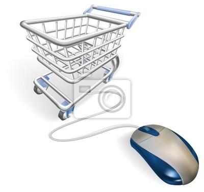 Wall mural Online internet shopping concept