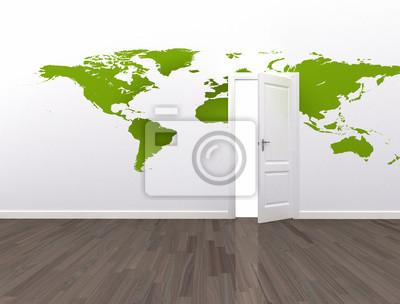 Open door global communication conceptual background