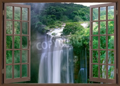 Wall mural Open window to spectacular Magwa Falls near Mbotyi Cape Province South Africa