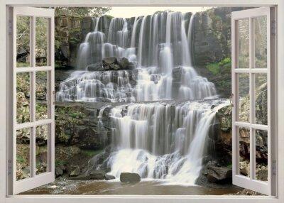 Open window view to Ebor falls