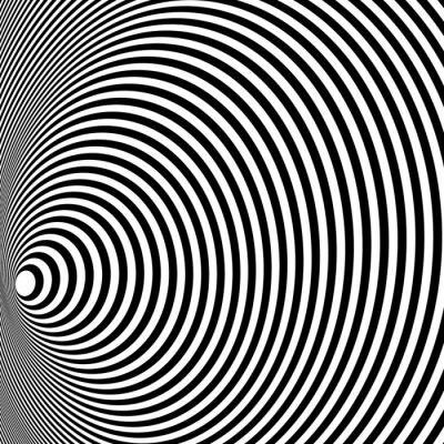 Wall mural Opt Art Illustration for your design. Optical Illusion. Abstract background. Use for cards, invitation, wallpapers, pattern fills, web pages elements and etc.