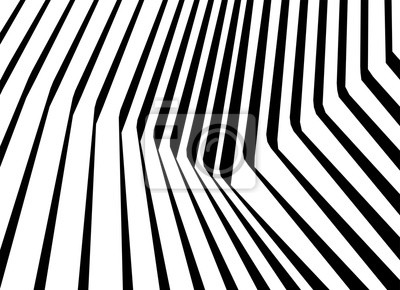 Wall mural optical art abstract background wave design black and white op art