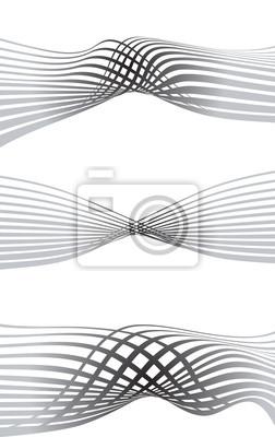 optical effect mobius wave stripe design