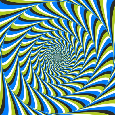 Wall mural optical illusion swirl ccw