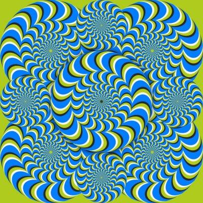 Wall mural optical illusion wave circles