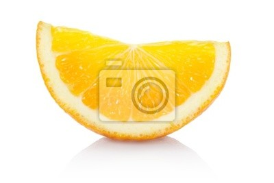Wall mural Orange slice with clipping path
