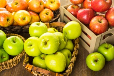 Wall mural Organic apples