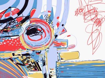Wall mural original digital abstract painting, contemporary artwork texture