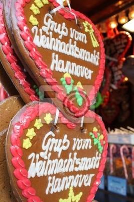 Original Gingerbread hearts from Weihnachtsmarkt Hannover