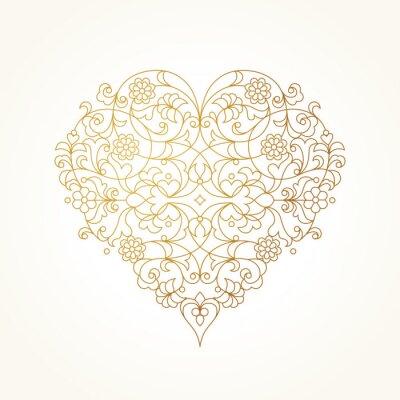 Wall mural Ornate vector heart. Valentine's Day Illustration.