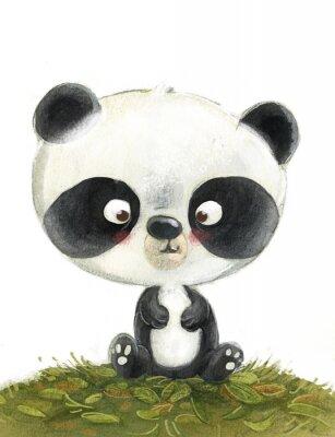 Wall mural oso panda pequeño