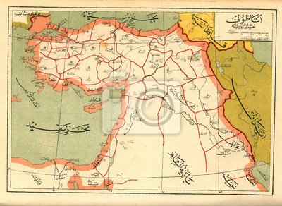 Wall mural Ottoman Empire vintage map