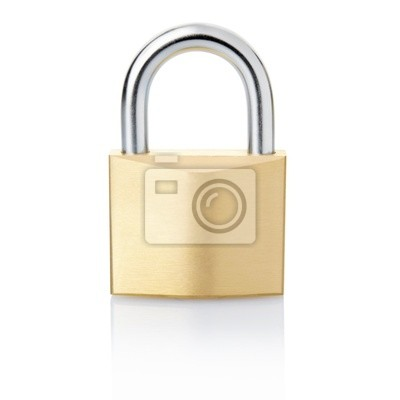 Wall mural Padlock with clipping path