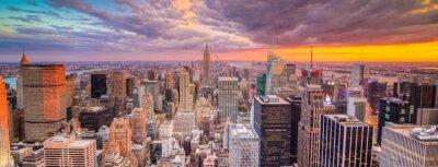 Wall mural Paesaggio di città di new york con grattaciel