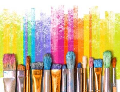 Wall mural Paintbrush art paint creativity craft backgrounds exhibition